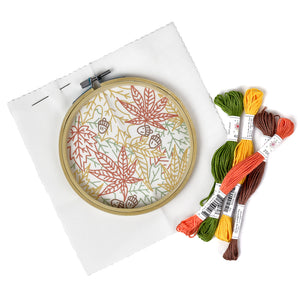 Fall Leaves Embroidery Kit