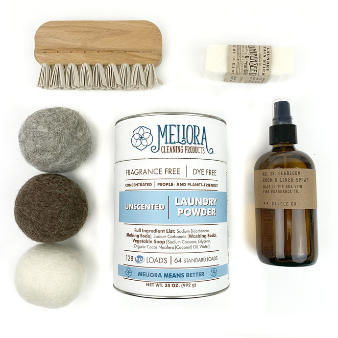 Sustainable Laundry Starter Kit With Linen Spray