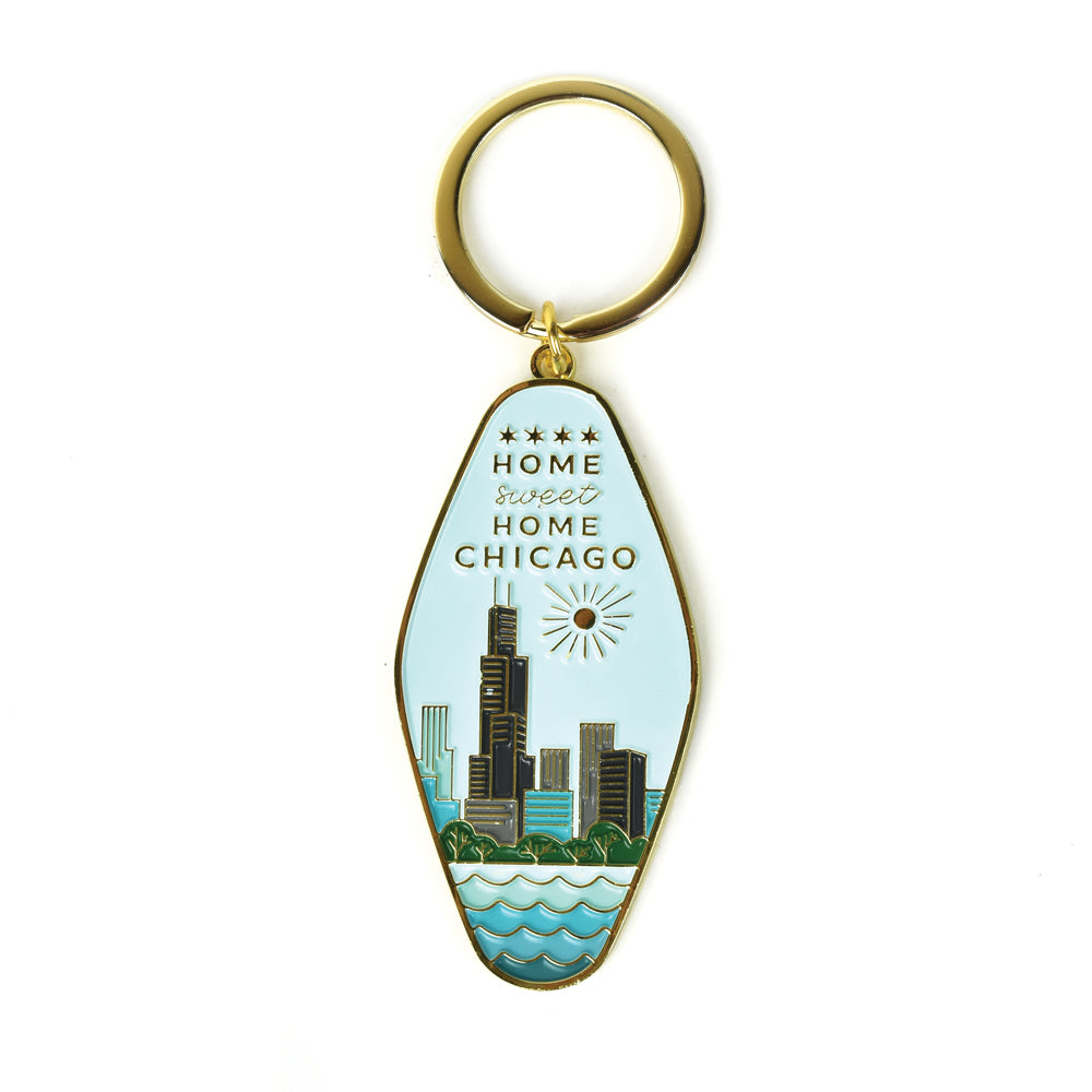 Home Sweet Home Chicago Keychain
