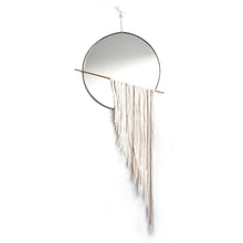 Circle Mirror with Fringe and Chain Swag