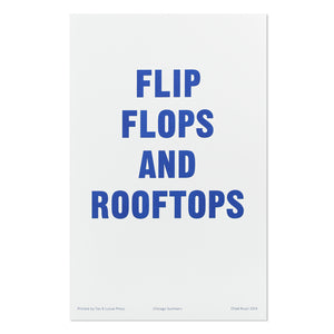"Flip Flops and Roof Tops 11"" x 17"" Print"