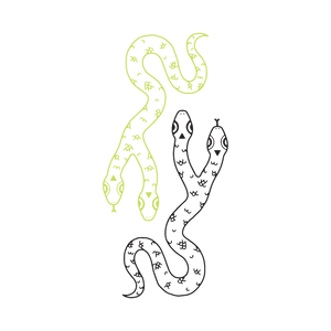 Two-Headed Snake Temporary Tattoo (Glow in the Dark)