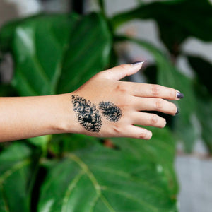 Pinecones Temporary Tattoo