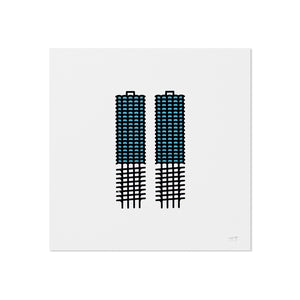 "Marina Towers 5"" x 5"" Mini Print"