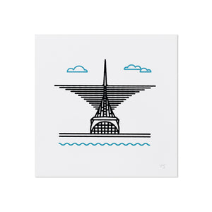 "Milwaukee Art 5"" x 5"" Mini Print"