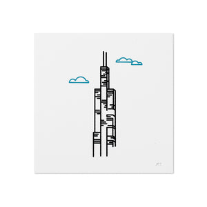 "Sears (Willis) Tower 5"" x 5"" Mini Print"