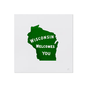 "Wisconsin Welcome 5"" x 5"" Mini Print"