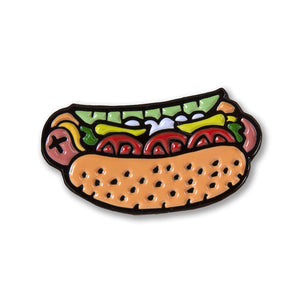 Chicago Style Hot Dog Enamel Pin