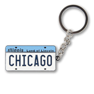 Vintage Illinois License Plate Keychain