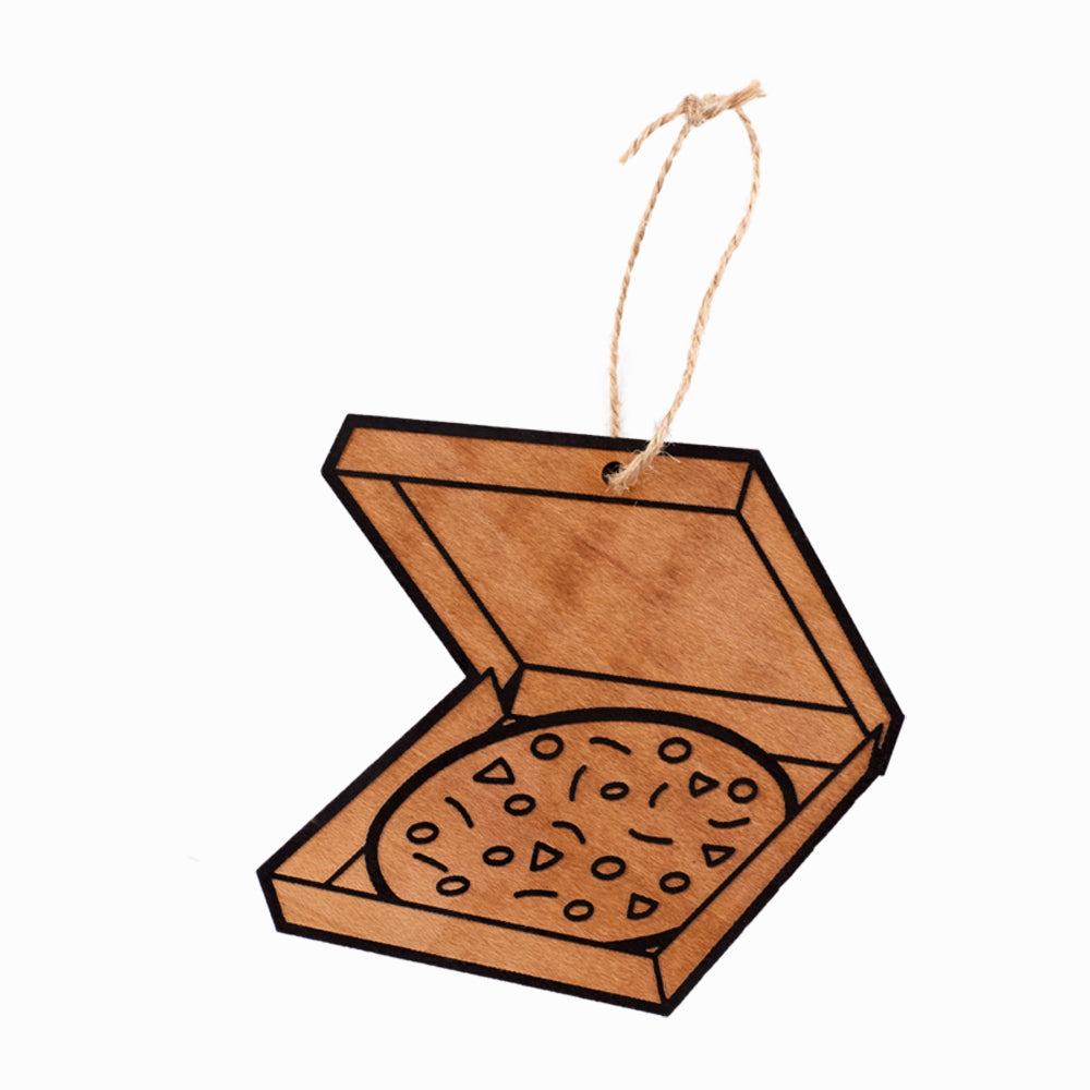 Take Out Pizza Lasercut Ornament