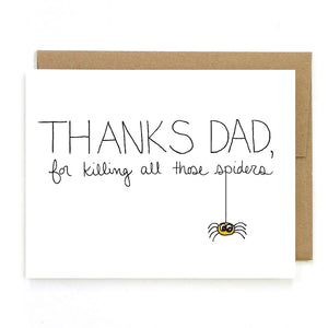 Thanks Dad Spiders Card