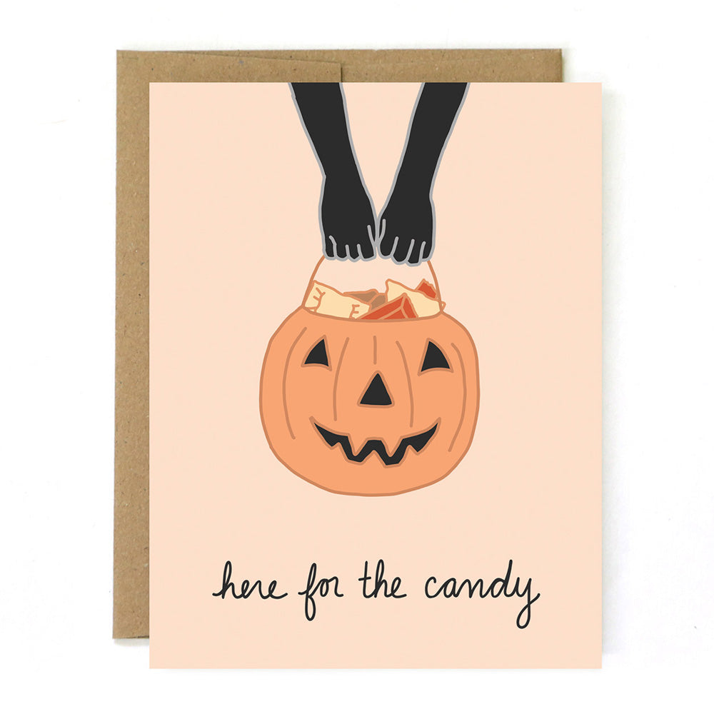 Here for the Candy Halloween Card