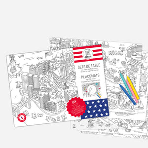 United States Coloring Sheet Placemats