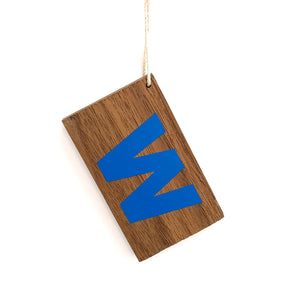 W Flag Chicago Cubs Wood Ornament