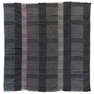 "Hand-Woven Plaid 56"" x 56"" Throw"