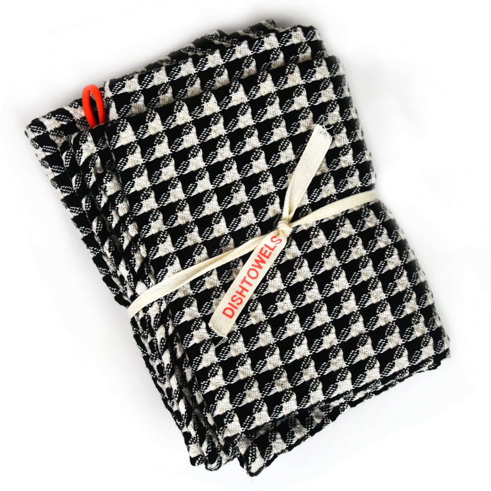 Checkered Cotton Waffle Dish Towel