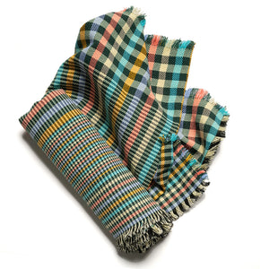 Ice Cream Plaid Throw