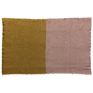 Chenille Stretchy Color Block Throw