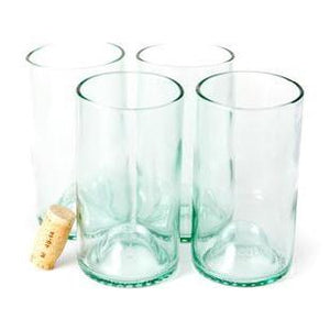 Recycled Wine Bottle Glasses (Set of 4)