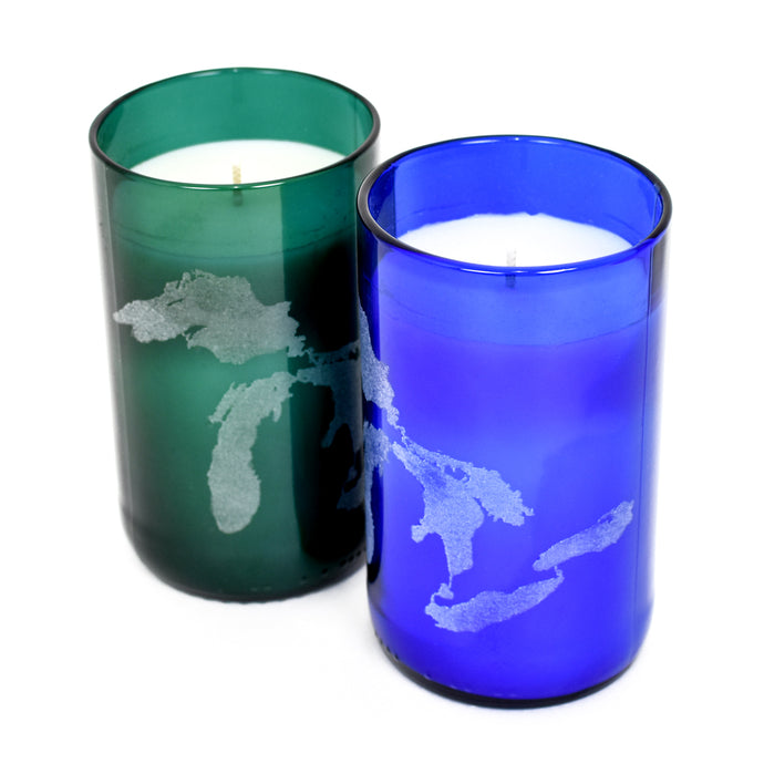 Great Lakes Etched Soy Candle