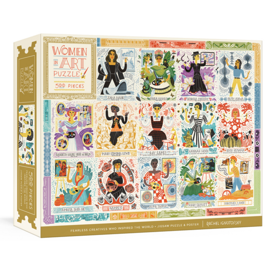 Women in Art: Fearless Creatives Who Inspired the World 500 Piece Jigsaw Puzzle and Poster