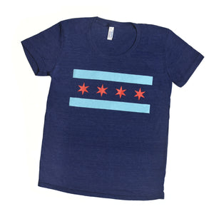 Chicago Flag Adult Tshirt