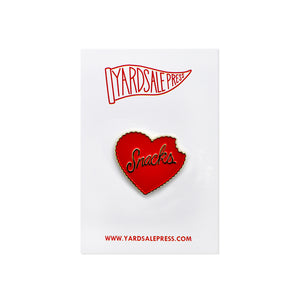 Snacks Heart Enamel Pin