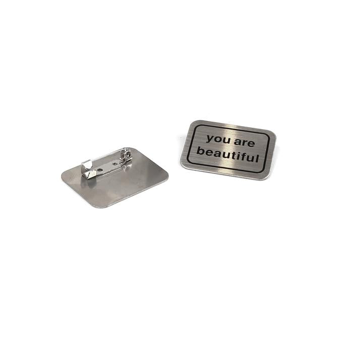 You Are Beautiful Rectangular Buttons (Pack of 2)