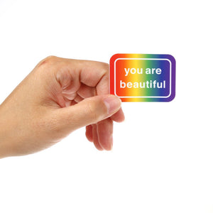 You Are Beautiful Rainbow Stickers (Pack of 5)