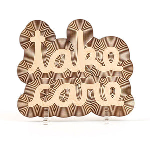 Take Care Wood Artwork