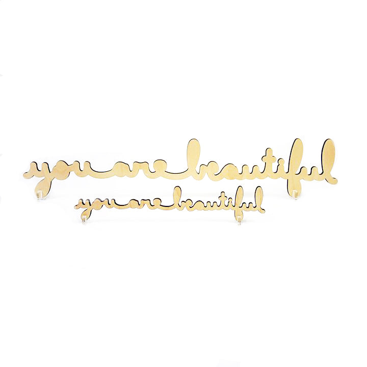 You Are Beautiful Script Wood Sign