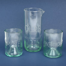 Yours, Mine & Ours Etched Cocktail Set