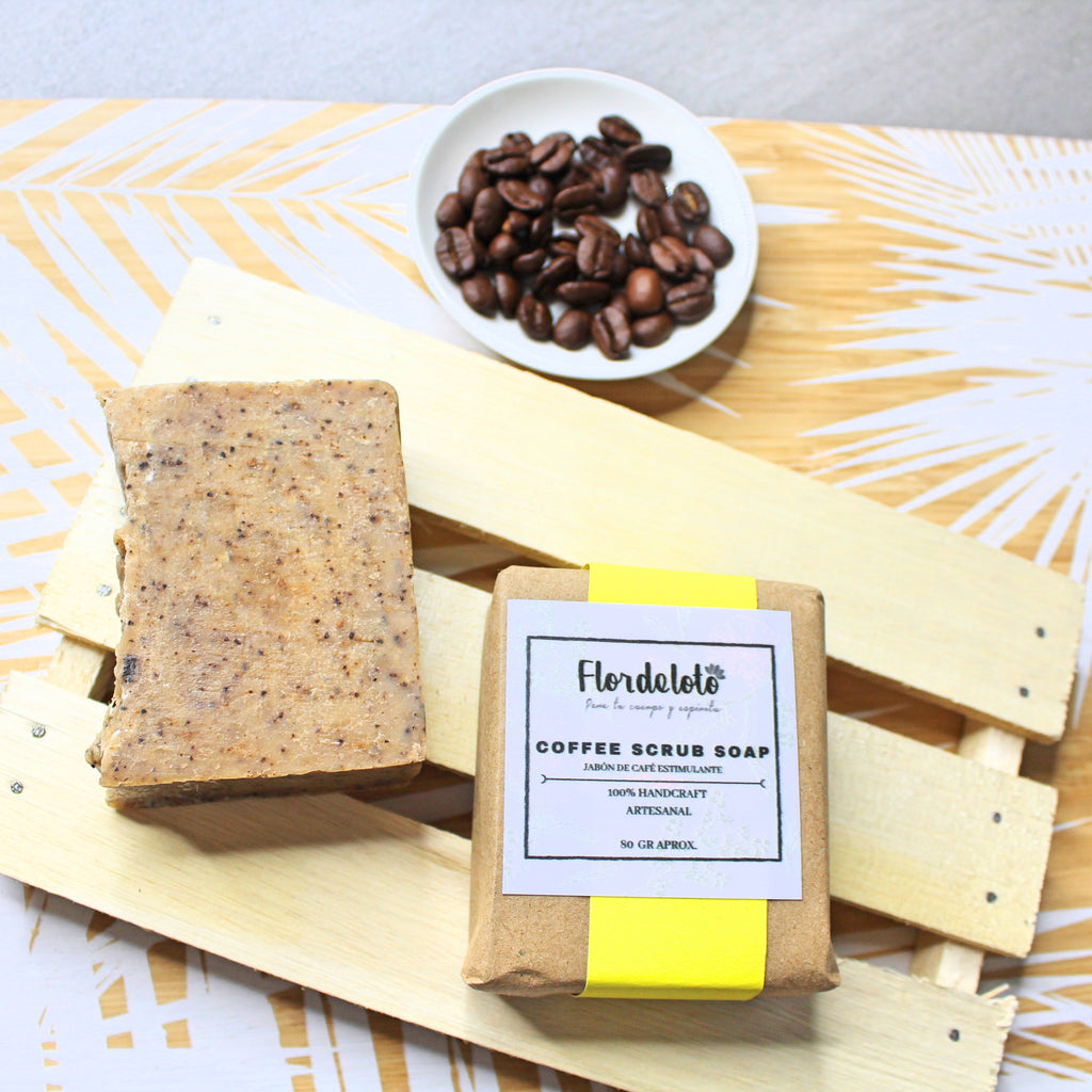COFFEE SCRUB SOAP (80 GR (FLOR DE LOTO)