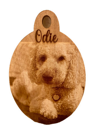 Digital photo pet ornament