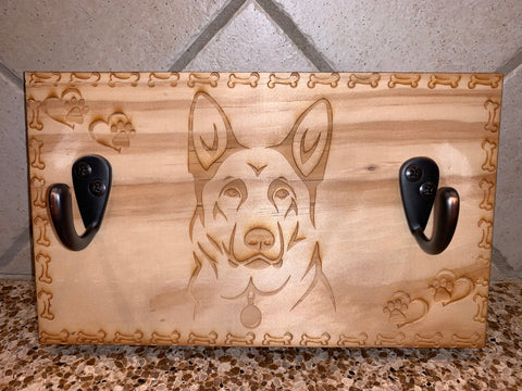 German shepherd Leash Wall Hanger