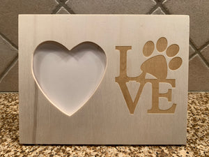 Dog Paw Love picture frame