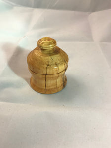 Wooden Round Jewelry Box made from a Pennsylvania Sugar Maple