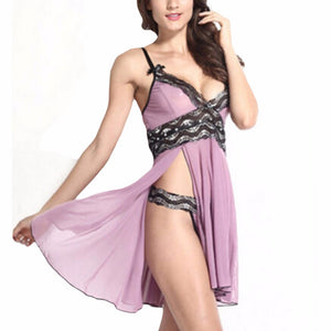 Sexy Lingerie Nightwear 2019 Women Ladies Mesh Lace Sleepwear Nightgown G String Babydoll Sleep Night