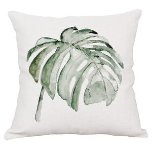 Wholesale pillow cover home car sofa decorative pillow case Tropical plant rain forest fern wedding gift cushion cover