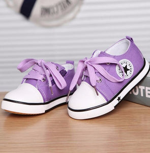 Casual Shoes For Girls Boys Black Withe Red Summer Spring Canvas Children's Shoes Star Fashion Sneakers Kids Lace-up