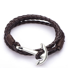Load image into Gallery viewer, Male Accessories Jewelry Man Anchor Bracelet 41cm PU Leather Bracelet For Men Women Fashion Wristband Charm Bracelet Jewelry