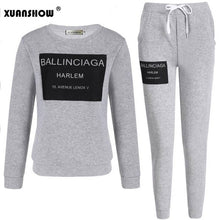 Load image into Gallery viewer, Ladies Fleece Tracksuits Long-sleeve Casual 2 Piece Set Women Outfit Sportswear Spring Autumn Winter Printed Letters