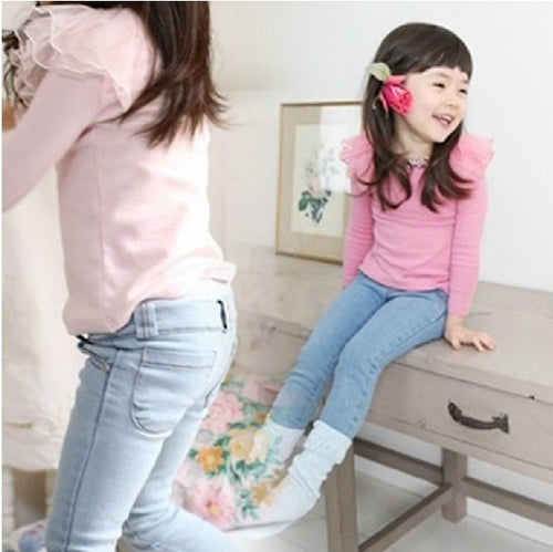 2-7 ages baby girl jeans jump suit Children's jeans  the new fashion jeans children's wear panty depth of the girls