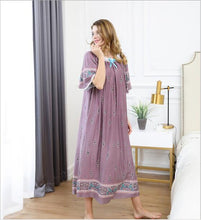 Load image into Gallery viewer, Nighties For Women Sleeping Dress Summer Nightgown Night Dress  Cotton Nightgowns Women Plus Size Sleepwear