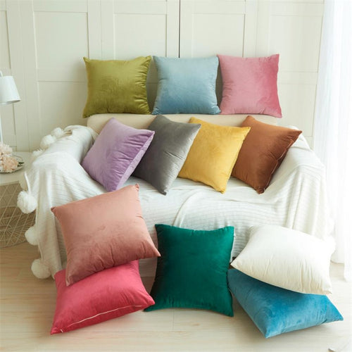 Home Decor Cushion Cover Case home decoration accessories Pillow Cover 30 New 1pc Velvet Pillow Sofa Waist Throw Cushion Cover