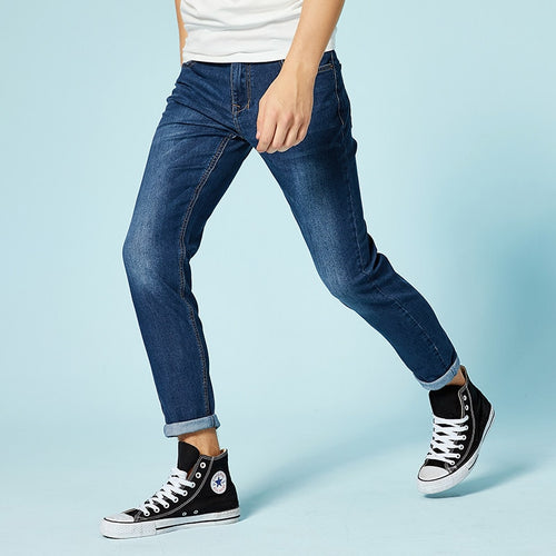 Designer Trousers Casual skinny Straight  Straight Elasticity pants jeans for mens slim fit pants classic jeans male denim jeans