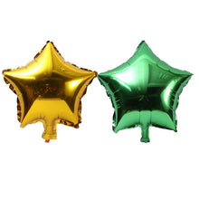 Load image into Gallery viewer, baby shower children's birthday party wedding decor supplies kids balloons globos 10 pcs 10 inch Five-pointed star foil balloon