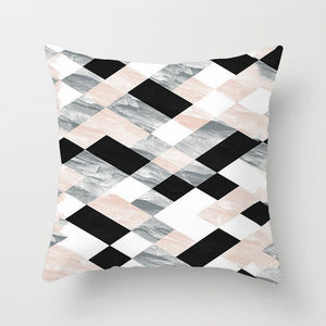 Throw Pillowcase Home Sofa Decoration Pillow Case Cushion Cover Geometric Lips Letter Pillow Case 45*45cm  Peach Skin