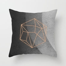Load image into Gallery viewer, Throw Pillowcase Home Sofa Decoration Pillow Case Cushion Cover Geometric Lips Letter Pillow Case 45*45cm  Peach Skin