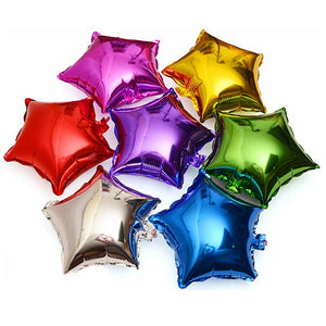baby shower children's birthday party wedding decor supplies kids balloons globos 10 pcs 10 inch Five-pointed star foil balloon